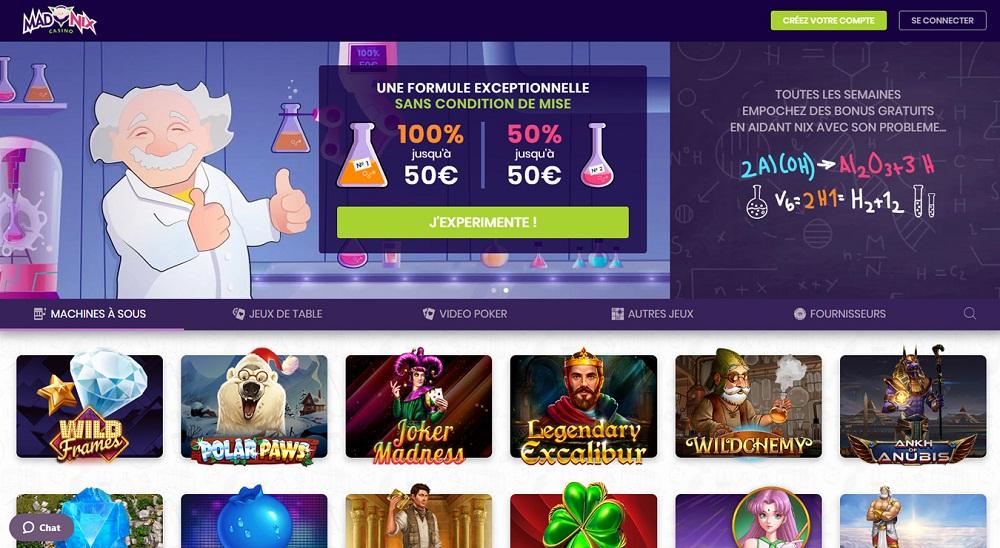 madnix casino avis offres promotionnelles